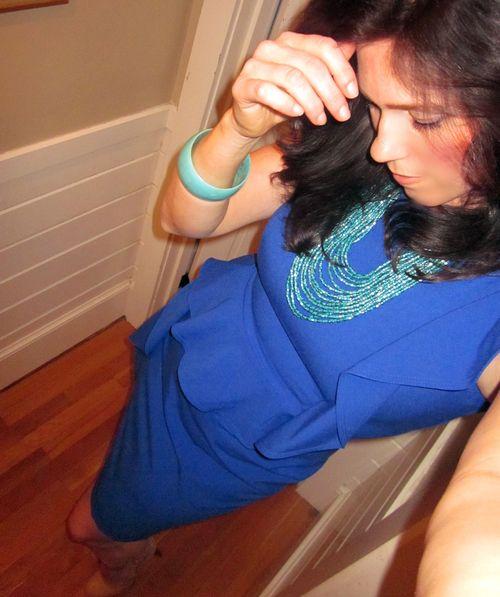 Kim blue dress